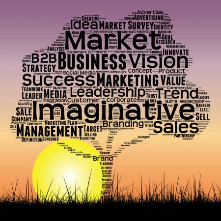 business marketing text word cloud