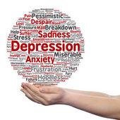 depression text word cloud