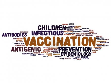 Concept or conceptual children vaccination