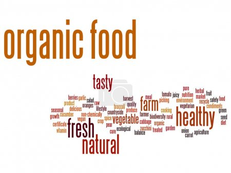 Concept or conceptual organic food