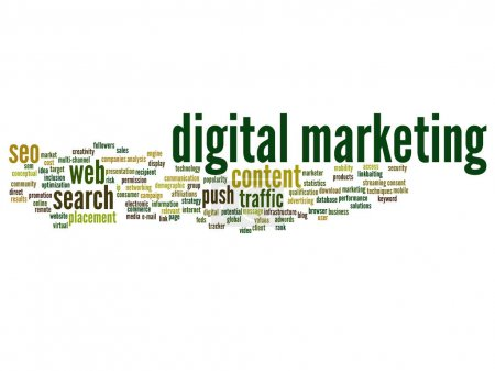 Concept or conceptual digital marketing seo