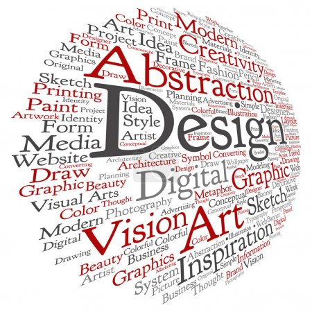 art graphic design visual word cloud