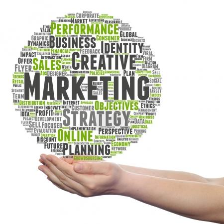 Conceptual business marketing target