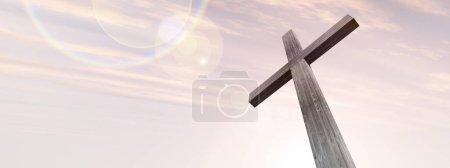 wood cross or religion symbol shape