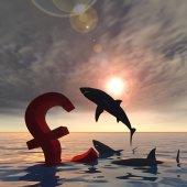 sharks eating pound symbol