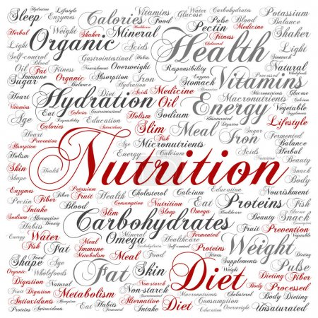 nutrition health or diet concept