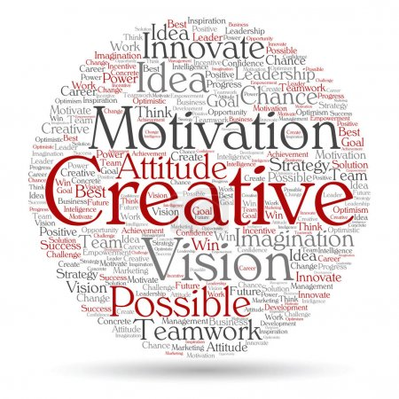 conceptual abstract creative business word cloud
