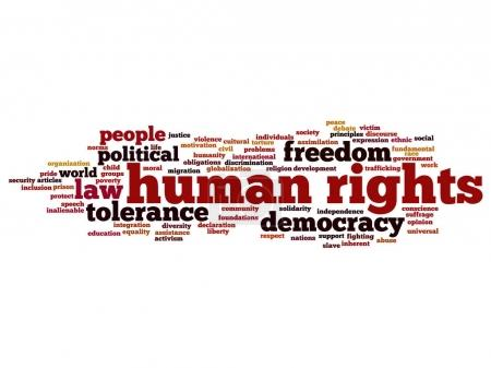 cloud of words human rights