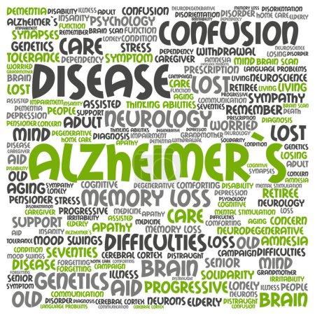 Alzheimer`s disease concept