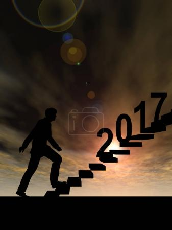 Male businessman on stairs