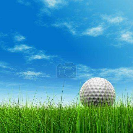golf ball at horizon