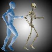 conceptual human man body chest