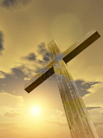 Concept or conceptual cross religion symbol