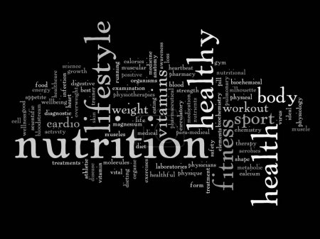Concept or conceptual abstract health diet
