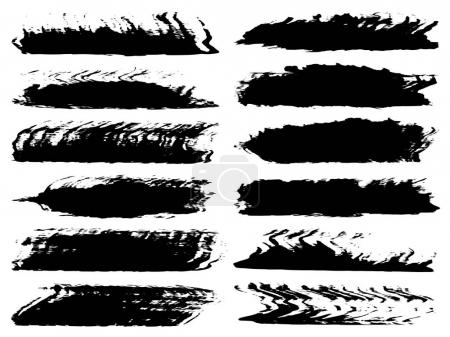 collection of artistic grungy black creative sketches