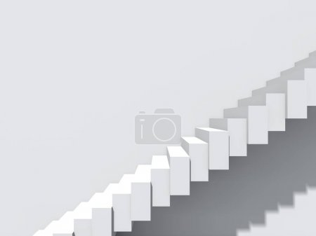 Conceptual stair on wall background building or architecture as metaphor to business success, growth, progress or achievement.