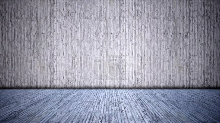 Photo for Concept or conceptual solid and rough gray background of concrete floor and wall as a vintage pattern layout. A 3d illustration metaphor for minimalism, time and material - Royalty Free Image