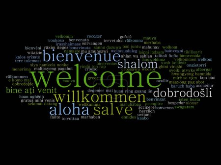 Concept or conceptual welcome or greeting internat...