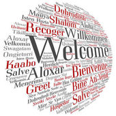 Welcome international round word cloud isolated
