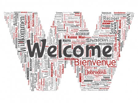 conceptual welcome word cloud
