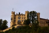 Hohenschwangau castle  the former summer residence of Bavarian monks. Tyrol. Bavaria. Germany. Alps. The castle today. Autumn 2016.