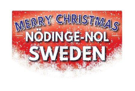 Photo pour NODINGE NOL SUEDEN Joyeux Noël carte de voeux - image libre de droit