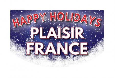 PLAISIR FRANCE   Happy Holidays greeting card