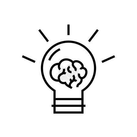 Illustration pour Icône de nouvelle ligne ides, illustration de concept, symbole de contour, signe vectoriel, symbole linéaire . - image libre de droit
