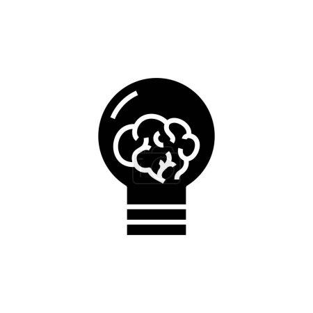 Illustration pour New ides icône noire, illustration de concept, symbole de glyphe, signe plat vectoriel . - image libre de droit