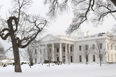 Photo for The White House in Washington, DC after a snowfall - Royalty Free Image