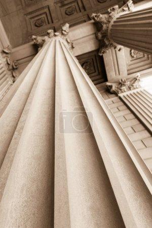 Architectural Column in Sepia