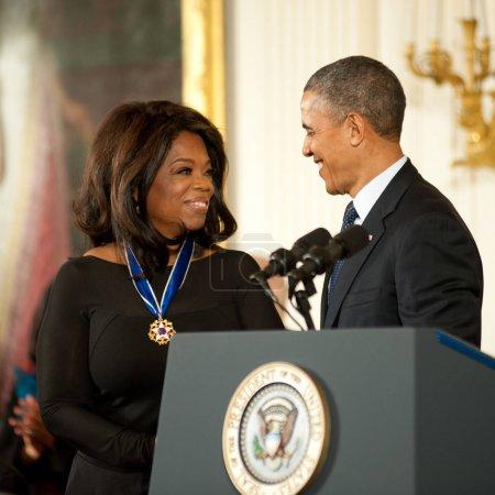 Oprah Winfrey and President Barack