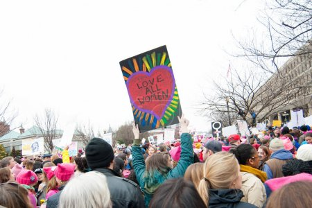Photo for Protester's sign at January 21, 2017 Women's March on Washington - Royalty Free Image