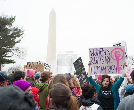 Photo for Protesters sign at January 21, 2017 Women's March on Washington - Royalty Free Image