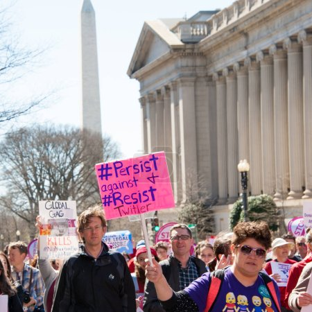 Protesters on International Women's Day