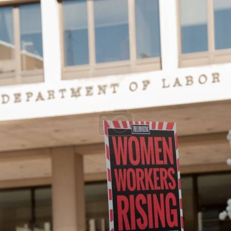 Protest Sign on International Women's Day