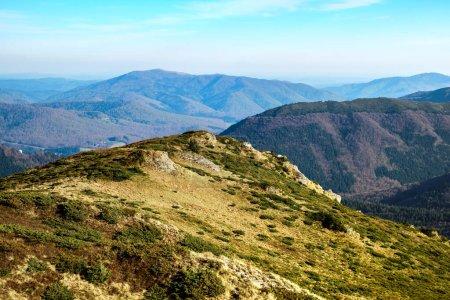 Mountains panorama from Bratocea ridge, Ciucas mountains, Brasov county, Romania, 1720m