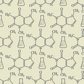 Chemical formula background seamless vector illustration
