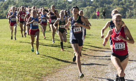 High School Girls Varsity Cross Country Race