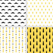 Set of printable vector seamless hipster patterns