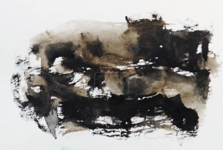 brown watercolor spot
