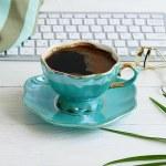 Office feminine desk, female make up accessories, ...