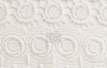 White lace background close up