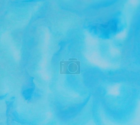 Watercolor abstract blue color marble liquid texture background
