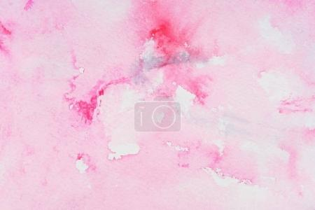 Abstract pink watercolor on paper texture
