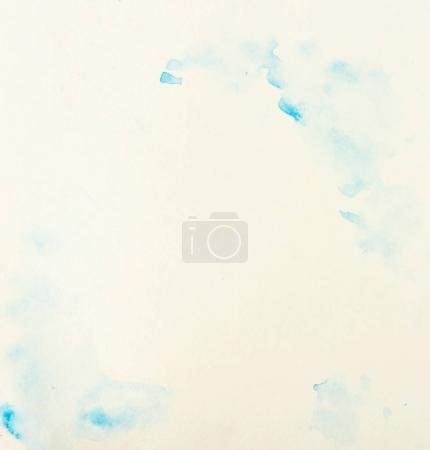 Abstract blue frame watercolor on paper texture