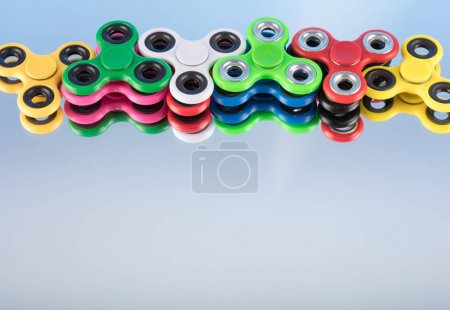 Group fidget spinner stress relieving toy colorful