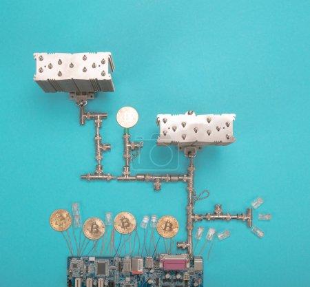 Foto de Fondo de placa de circuito electrónico chip - Imagen libre de derechos