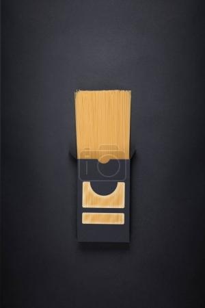 Pasta packaging template Isolated on black background