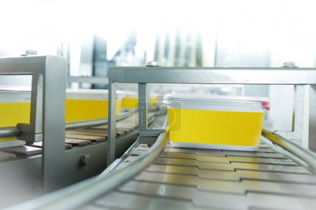 Food production conveyor machine